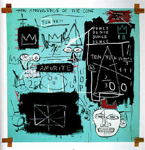 Jean-Michel Basquiat-Equals PI-1982