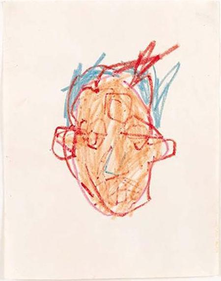 Jean-Michel Basquiat-Etude De Tete-1982