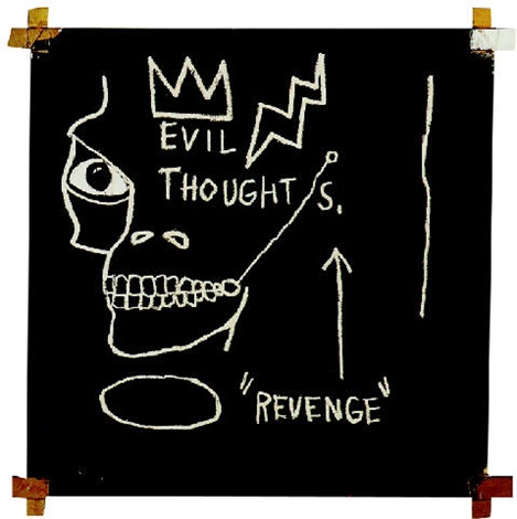 Jean-Michel Basquiat-Evil Thoughts-1982