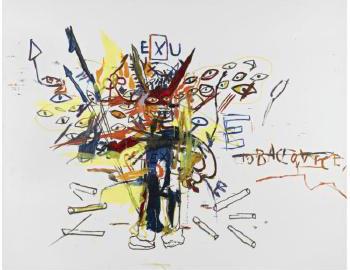 Jean-Michel Basquiat-Exu-1988