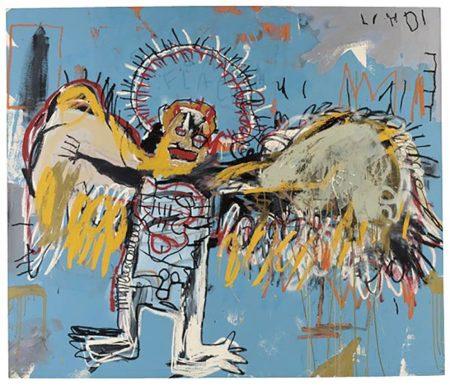 Jean-Michel Basquiat-Fallen Angel-1981
