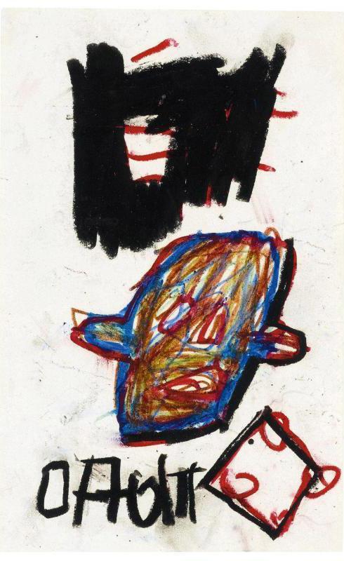 Jean-Michel Basquiat-Famous Negro Athletes 1-1981