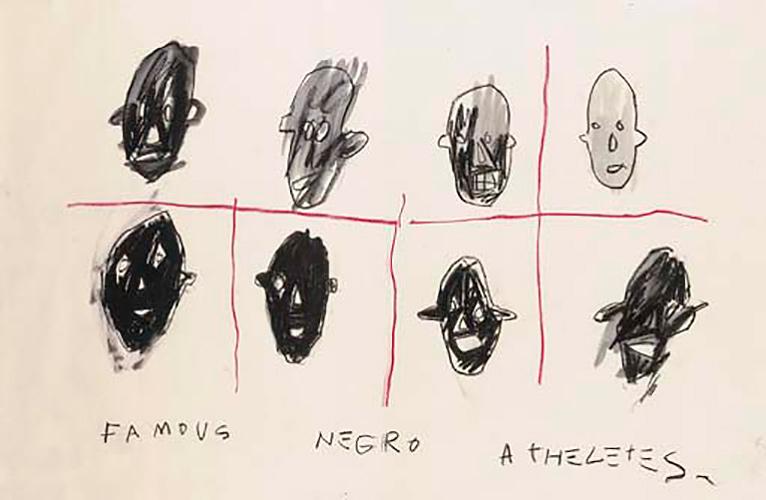 Jean-Michel Basquiat-Famous Negro Athletes 2-1981