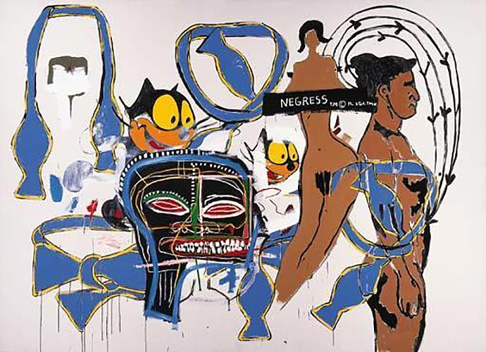 Jean-Michel Basquiat-Felix the Cat-1985