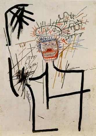 Jean-Michel Basquiat-Figure JMB # 1-1982