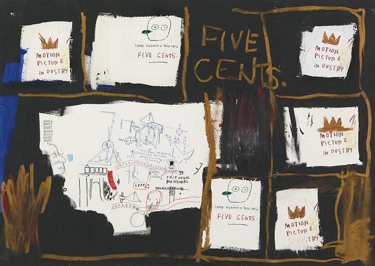 Jean-Michel Basquiat-Five Cents-1987