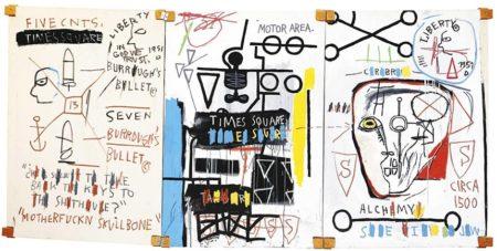 Jean-Michel Basquiat-Five Fish Species-1983
