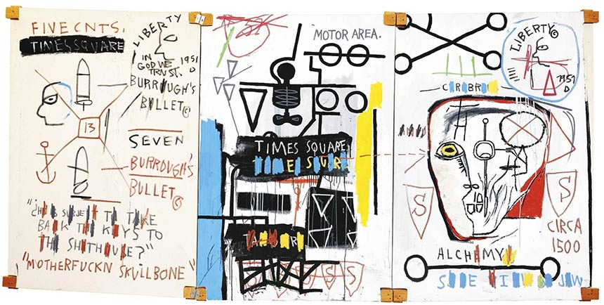 Jean-Michel Basquiat-Five Fish Species-1983