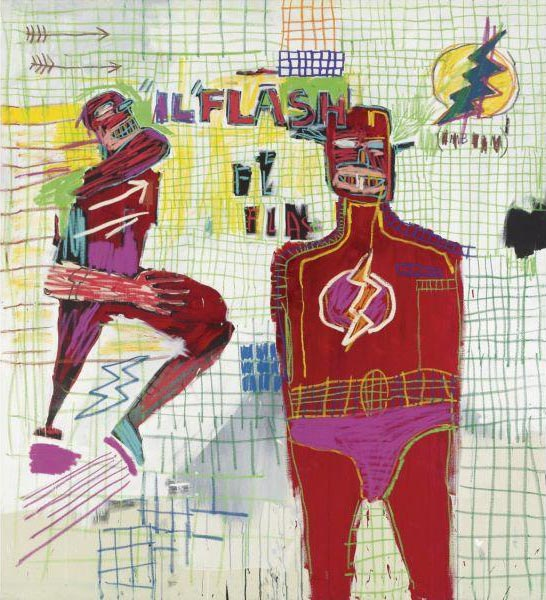 Jean-Michel Basquiat-Flash in Naples-1983