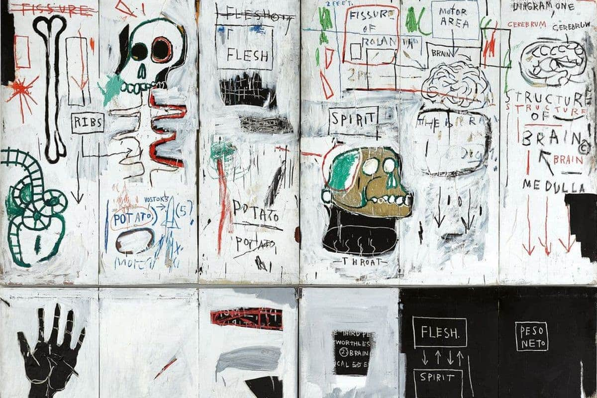 Jean-Michel Basquiat - Flesh and Spirit (detail), 1982-83