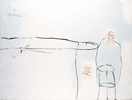 Jean-Michel Basquiat-Fotting and Drinking-1984