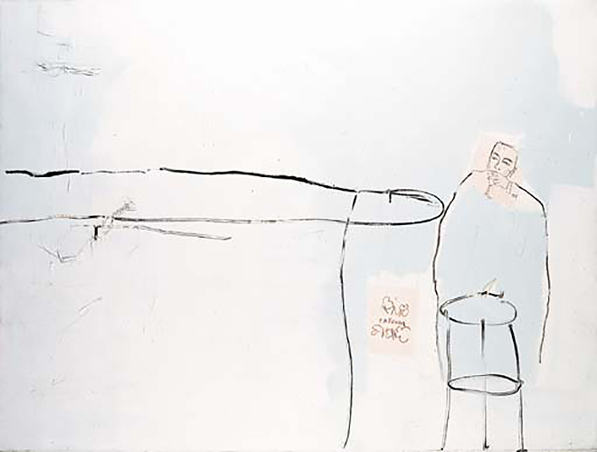 Jean-Michel Basquiat-Fotting and Drinking-1984
