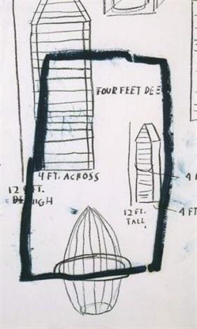 Jean-Michel Basquiat-Four Feet Across-