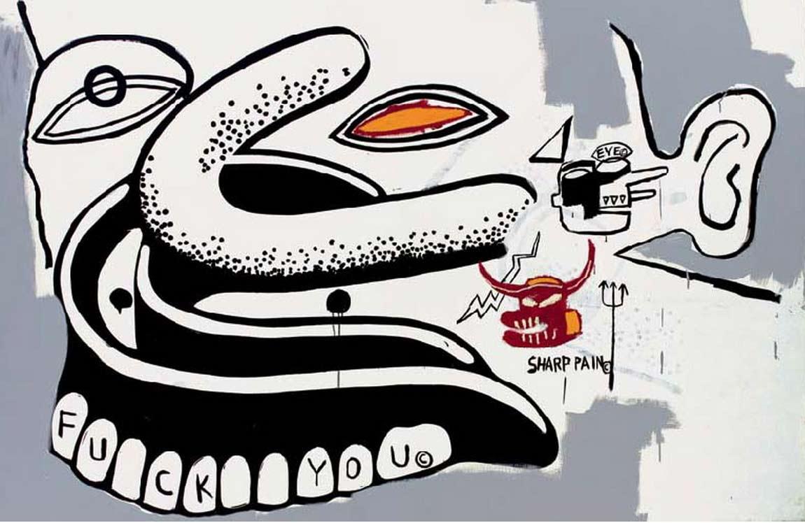 Jean-Michel Basquiat-Fuck You, Dentures-1984