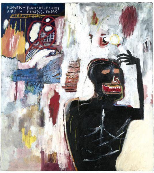 Jean-Michel Basquiat-Fuego Flores-1983