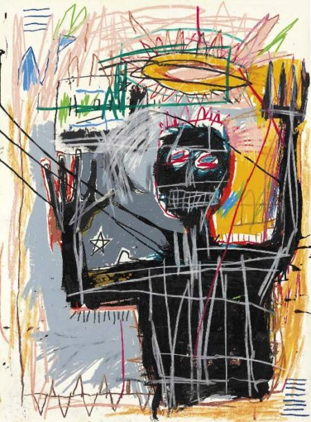 Jean-Michel Basquiat-Furious Man-1982