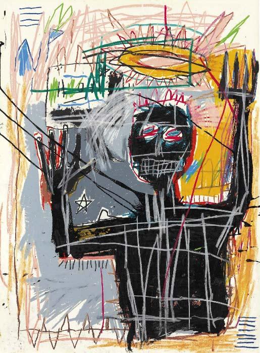 Jean-Michel Basquiat-Furious Man-1982