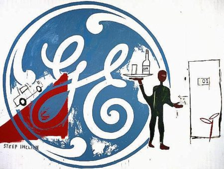 Jean-Michel Basquiat-General Electric With Waiter-