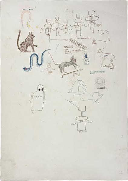 Jean-Michel Basquiat-Ghost-1986