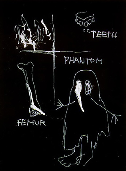Jean-Michel Basquiat-Ghost and Bones-1981