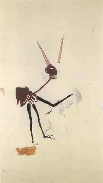 Jean-Michel Basquiat-Gin Soaked Critic-1986