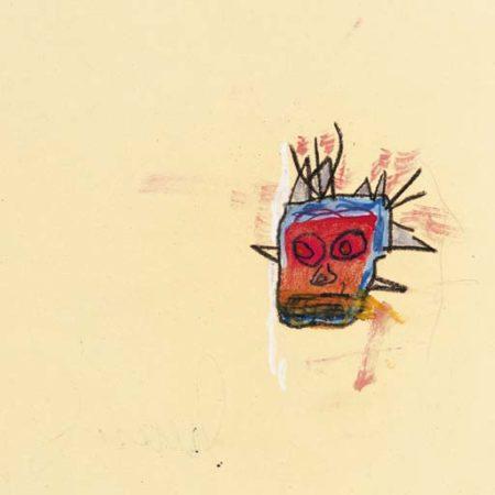 Jean-Michel Basquiat-Gold Head-1986