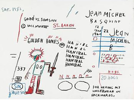 Jean-Michel Basquiat-Golden Bones-1982
