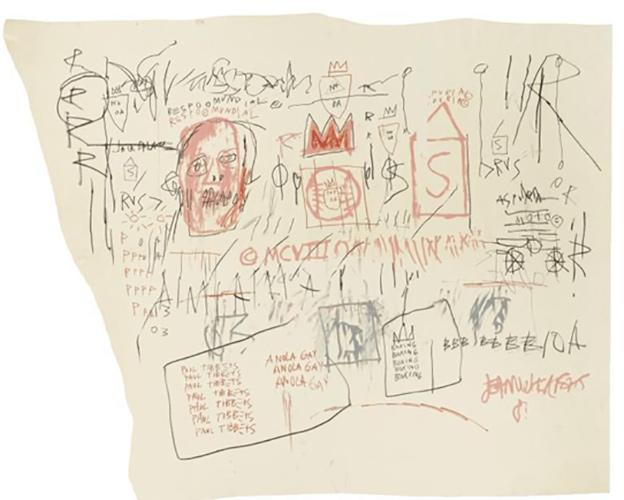 Jean-Michel Basquiat-Gringo Pilot (Anola Gay)-1981
