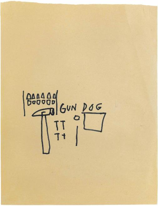 Jean-Michel Basquiat-Gun Dog-1980