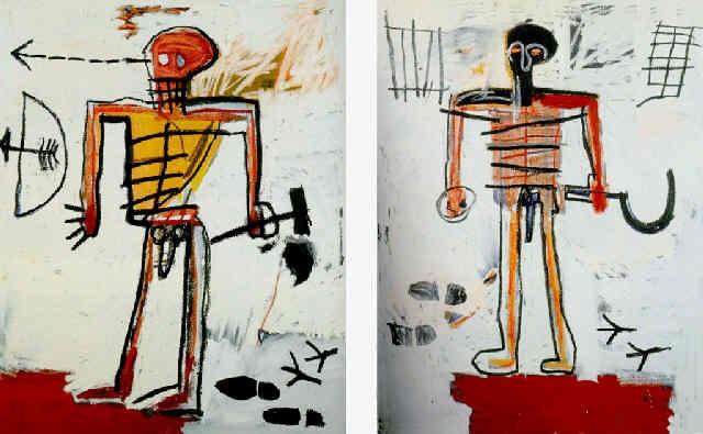 Jean-Michel Basquiat-Hammer and Sickle (Dyptich)-1982