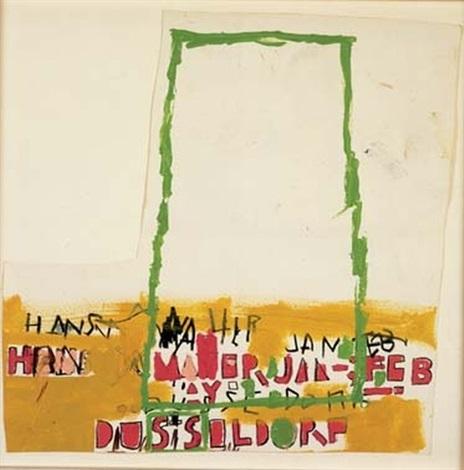 Jean-Michel Basquiat-Hans Meyer Jan-Feb, Dusseldorf-1987