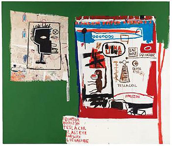 Jean-Michel Basquiat-Harlem Paper-1987