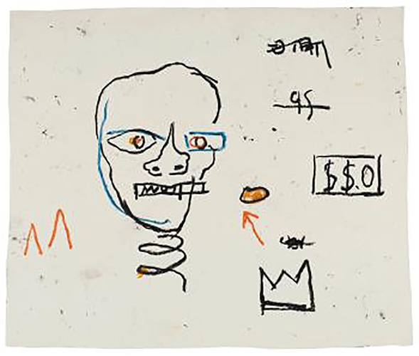 Jean-Michel Basquiat-Head-1981