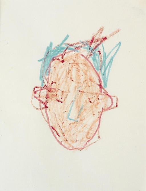Jean-Michel Basquiat-Head Study-1980