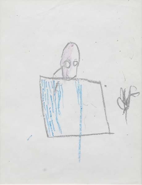 Jean-Michel Basquiat-Head With Square-1981