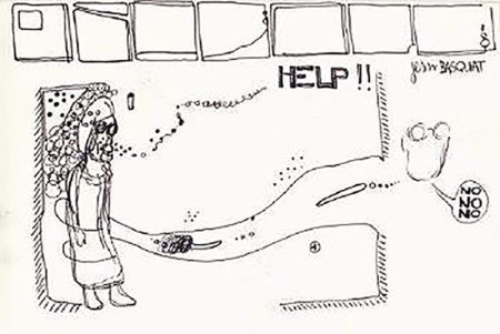 Jean-Michel Basquiat-Help-