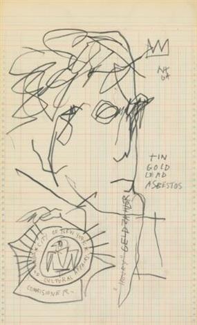 Jean-Michel Basquiat-Henry Geldzahler (Smaller)-1982