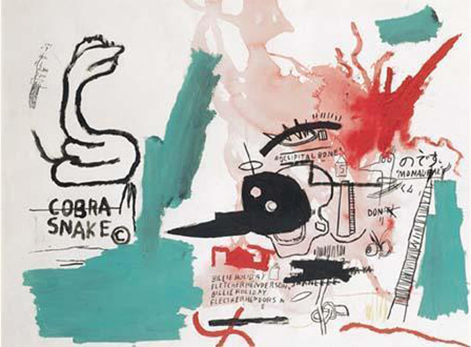 Jean-Michel Basquiat-Homme a Billie Holiday-