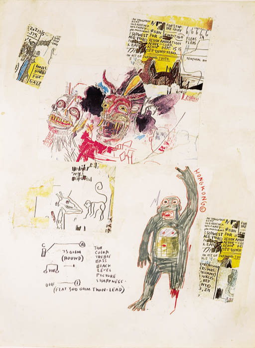 Jean-Michel Basquiat-Hong Kong-1985