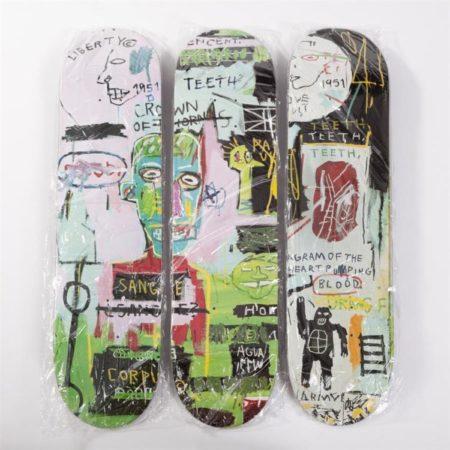 Jean-Michel Basquiat-In Italian (Skate Decks)-