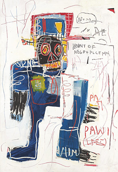 Jean-Michel Basquiat-Irony of Negro Policeman-1981