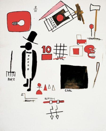 Jean-Michel Basquiat-J.D Card-1984