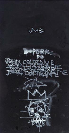 Jean-Michel Basquiat-John Coltrane-1981