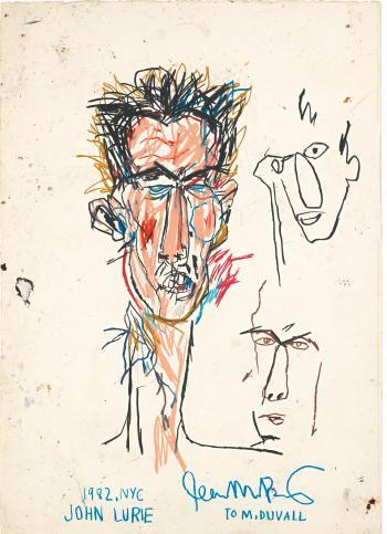 Jean-Michel Basquiat-John Lurie-1982
