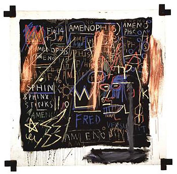 Jean-Michel Basquiat-Kings of Egypt I-1982