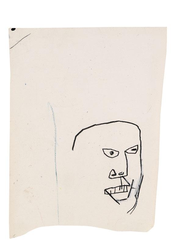 Jean-Michel Basquiat-Kopf Eines Zornigen Mannes-1984