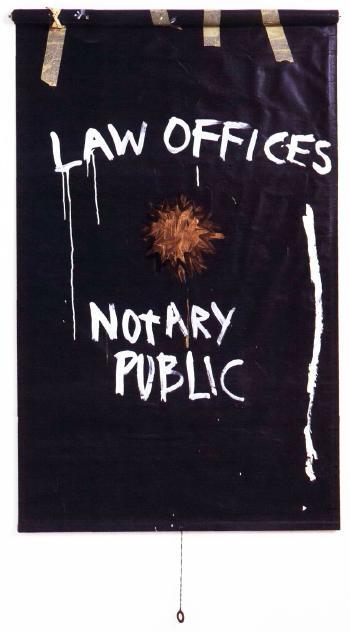 Jean-Michel Basquiat-Law Office - Notary Public-1981
