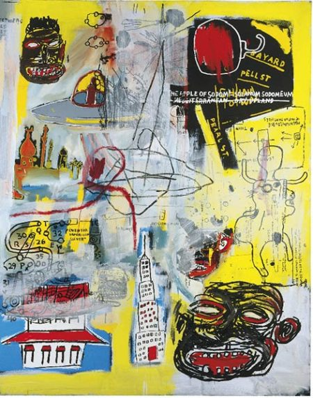 Jean-Michel Basquiat-Lead Plate with Hole-1984