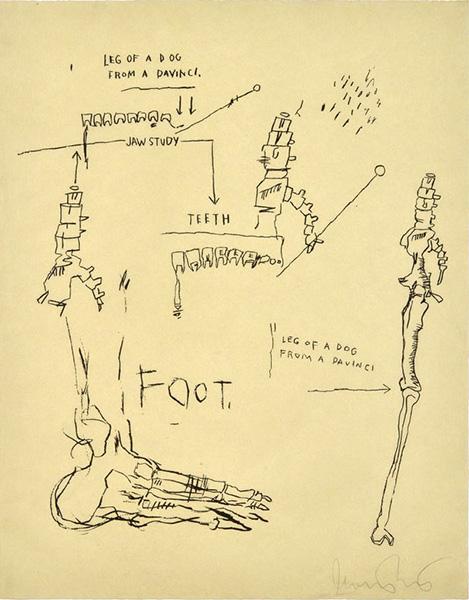 Jean-Michel Basquiat-Leg of a Dog-1983