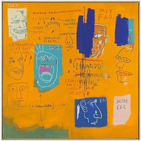 Jean-Michel Basquiat-Leonardo And His Five Grotesque Heads-1983